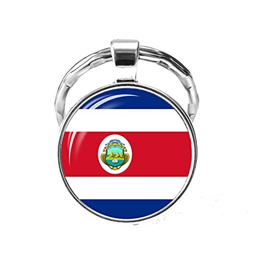 TUDUDU Llavero Con Bandera De Países De América Del Norte, Estados Unidos, Canadá, Costa Rica, México, Bandera, Cabujón De Cristal, Colgante, Llavero, Regalos Para Amigos