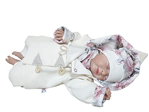 Atelier MiaMia - Jacke Strickjacke Baby Kind Größe 68 Designer Jacke Limitiert !! Pfingstrosen