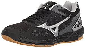 Mizuno Wave Supersonic Volleyball Shoes, Black/Silver, Women's 9 B US