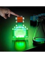 Mine&craft kleur veranderende lichten Potion fles licht nachtlampje, led-lamp batterij-aangedreven veranderingen tussen 8 verschillende kleuren schud controle nachtlamp speelgoed