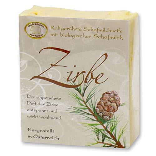 Florex Savon de lait de mouton à froid - Zirbe - Parfum aromatique agréable de l'arbre de pin 150 g
