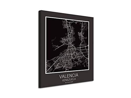 Valencia Valencia Venezuela canvas op doek, decoratief bedrukt | moderne afbeeldingen 30 x 40 Cm Sin Bastidor Blanco Y Gris