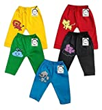 Chirsh Baby Pajama Pants Unisex Pyjama Bottoms for Kids (Pack of 5) (12 Months-18 Months)