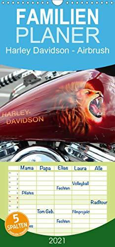 Harley Davidson - Airbrush - Familienplaner hoch (Wandkalender 2021, 21 cm x 45 cm, hoch)
