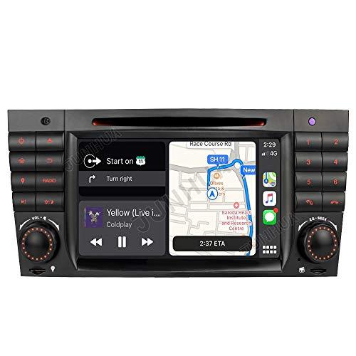 Radio de coche con DVD y sistema de navegación para Mercedes Benz Clase C W203/C220/C230/C240/C280/CLK W209/CLK200 CLK220/CLK 240/Mercedes Clase CLC W203/W467/A209/W219/W467/CLK 220 (260 mm)