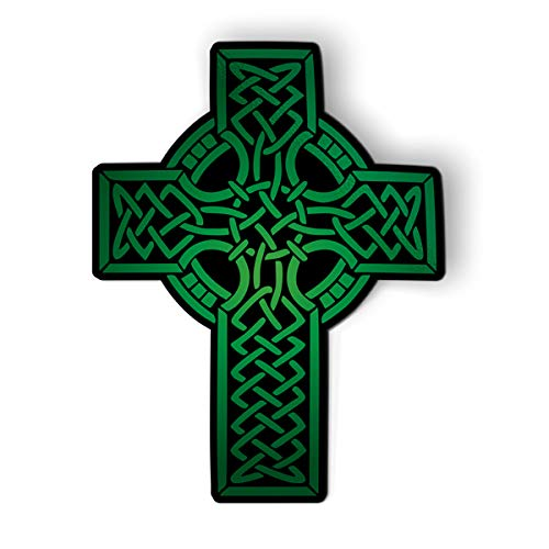 GT Graphics Express Green Celtic Cross - 5.5' Magnet for Car Locker Refrigerator