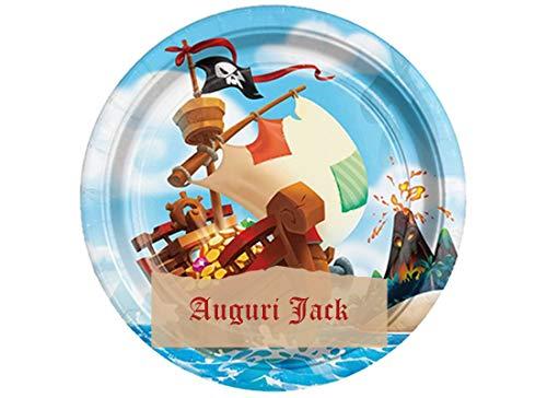 Cialda per torta personalizzabile personaggio evento a scelta (Pirati Nero)
