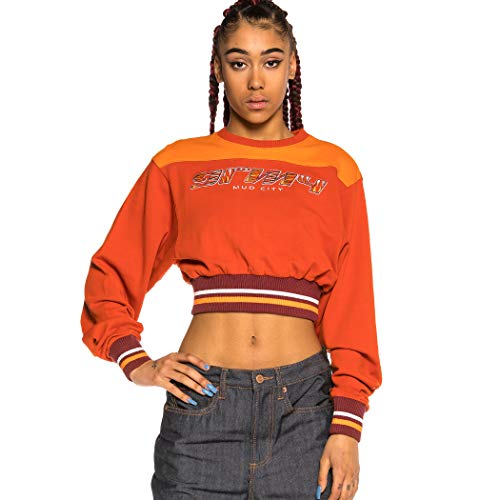 GRIMEY Sudadera Chica Acknowledge Crop Crewneck SS20 Orange-S