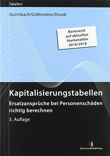 Kapitalisierungstabellen: Ersatzansprüche bei Personenschäden richtig berechnen (Sonstige Tabellen)