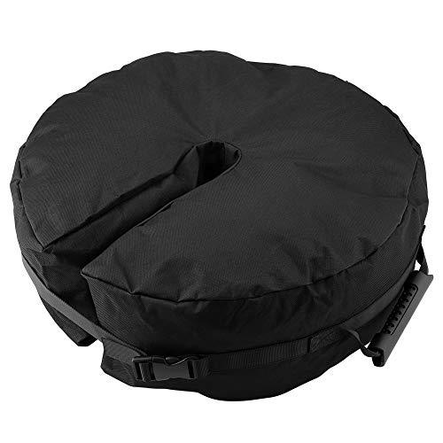 Paraguas Redondo Bolsa de Peso Base, Sombrilla Negra Base Soporte Fácil Instalación Peso Bolsa Sombrillas para Patio al Aire Libre Suministros de Base