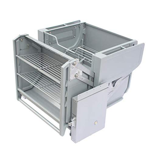 DUTUI Doppelkörper-Aufbewahrungsküche Kühlschrank Oberschrank Schrank Hebezugkorb Zweistufiges Gestänge-Pulldown-Gestell