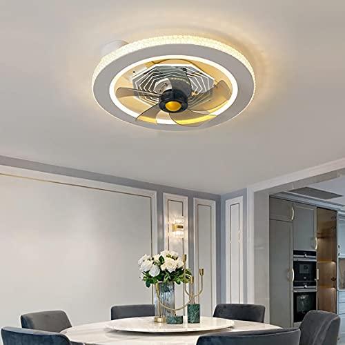 Ventilador Techo Con Luz Ultra Silencioso Ventilador De Techo Con Luz Y Mando a Distancia Lámpara Techo Colgante Regulable Iluminación Interior Velocidad Del Viento Ajustable Lámpara Decorativa