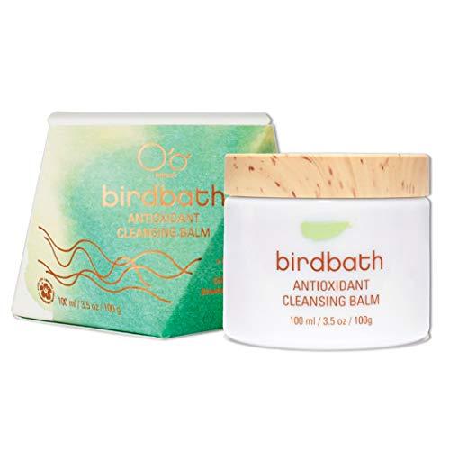 O'o Hawaii Birdbath Antioxidant Cleansing Balm – 3.5oz | Anti-Aging Facial Cleanser & Makeup Remover | Softens & Brightens Skin + Promotes Collagen Production | Hawaiian Red Algae & Sea Buckthorn