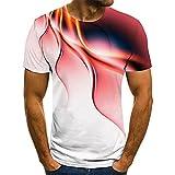 Camiseta Estampada En 3D para Hombre Camiseta ReláMpago Personalizada Camiseta Casual De Manga Corta Nueva Camiseta De Moda De Verano