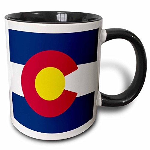 3dRose Flag Of Colorado Mug, 11 oz, Black