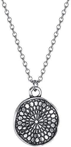 ZHIFUBA Co.,Ltd Necklace Woman Necklace Delicate Necklace Wavy Disc Necklace for Women Ethnic Jewelry Bohemian Ancient Design Chains Necklaces Vintage Gift