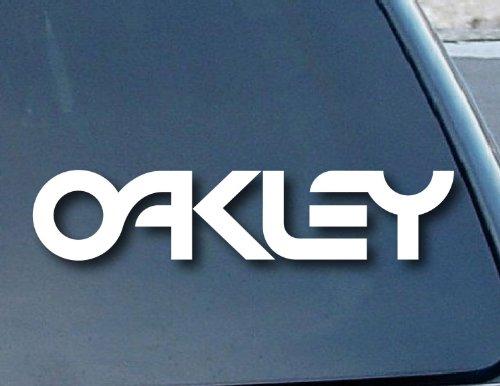Bumper adhesivo adhesivos Gafas Oakley para ventanillas de coche Vinilo 203mm Wide (Color: Blanco)