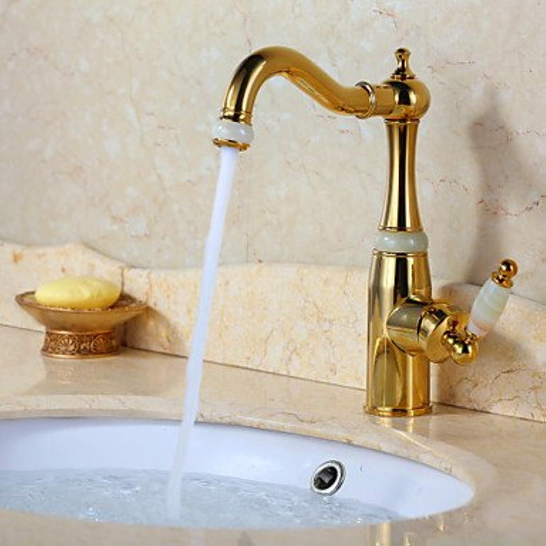 Y&M Faucet£? Bathroom sink faucet Ti-PVD polished antique faucets design