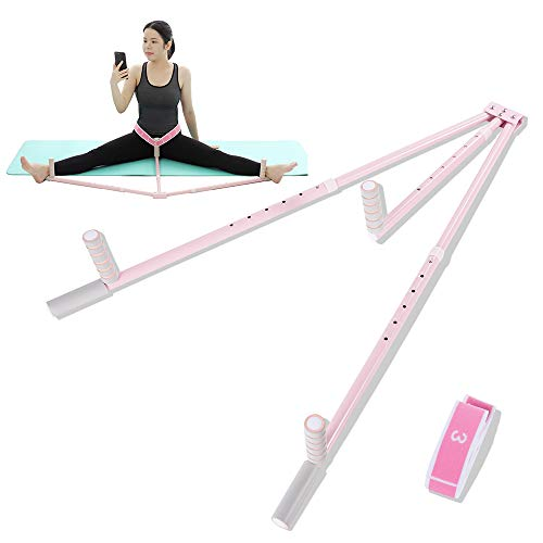 Tydlig Pro Leg Stretcher with Flexibility Strap- 3 Bar Split Machine for Stretching - Dance, Gymnastics, Cheerleading and Martial Art - Stretch Machine for Home Use (Pink)