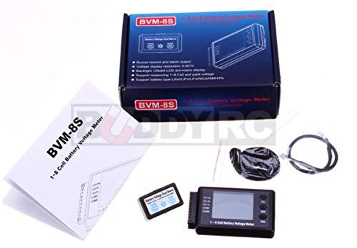 AOKoda 1-8S Cell Digital Battery Voltage Checker for Lithium (LiPo/LiIo/LiFe) Battery