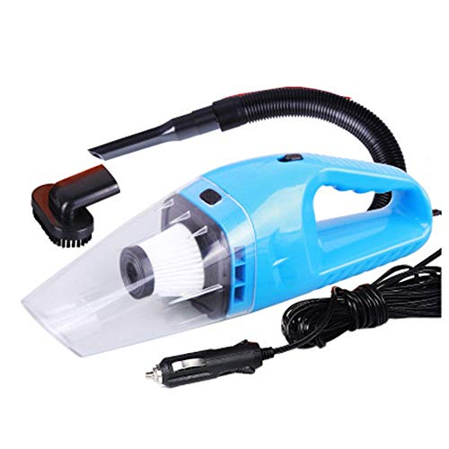 NOOX Portable Handheld High Power Car Vacuum Cleaner 120W 4000pa with Cigarette Plug Cleaning Pet Hair Soot Bread Crumbs Dust in Car  Blue