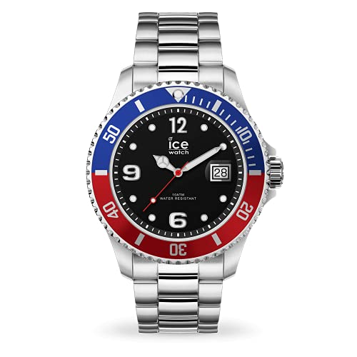 Ice-Watch - ICE steel United silver - Silbergraue Herrenuhr mit Metallarmband - 016547 (Large)