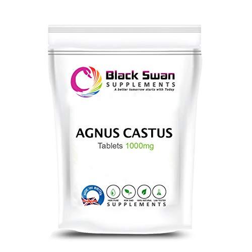 Swan Agnus Castus Supplement | Reduce Irritability, Menstrual Cramp, Mood Swings | Pre-Menstrual syndromes and Menopause | 1000mg High Strength Veg Tablets (120 tabs)