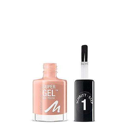 Manhattan Super Gel Nagellack – Gel Maniküre Effekt ganz ohne UV Licht – Nudefarbener Nail Polish mit bis zu 14 Tagen Halt – Farbe Mauvelicious 155 – 1 x 12ml