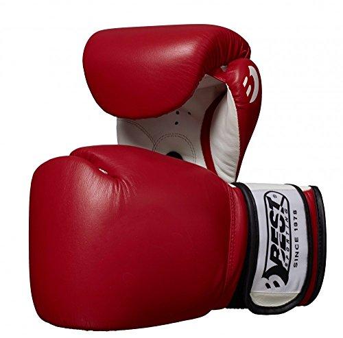 Best Sport competición Guantes de Boxeo - Rojo, 12 oz
