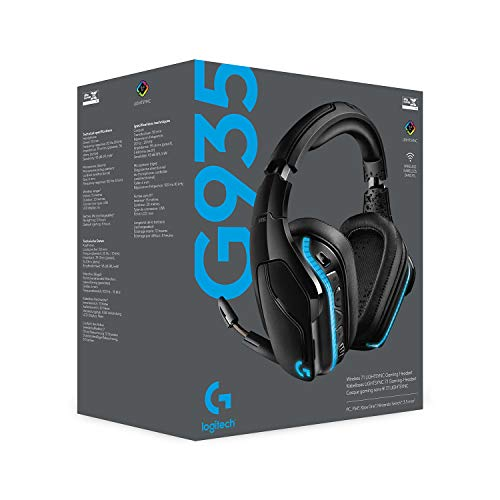 Logitech G935 wireless gaming headphones.