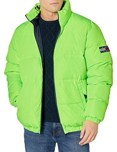 Tommy Hilfiger Tommy Jeans Men's Reversible Puffer Jacket, Black Iris, S
