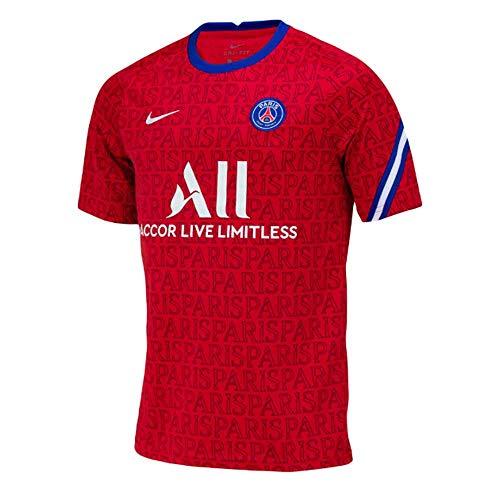 NIKE Paris Saint-Germain Temporada 2020/21-PSG Y NK Dry Top SS PMCD5864-658 Camiseta, Niño, University Red/University Red, S
