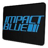 Alfrombrillas Impact Blue Alfombrilla de ratón Antideslizante para Juegos Alfombrilla de ratón para Ordenador portátil Costura de precisión 22 × 18 cm