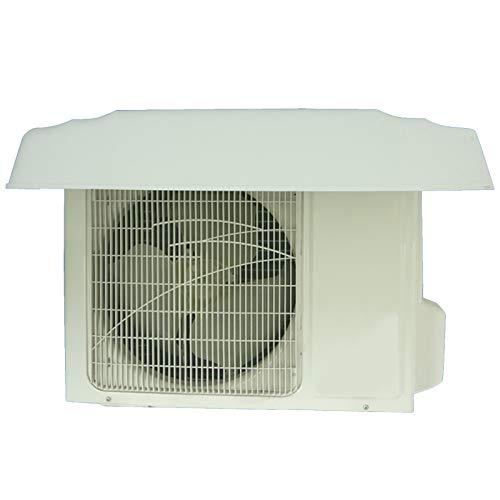 LSXIAO Ventana Aire Acondicionado Cubrir, Al Aire Libre Antipolvo Anti-Nieve Impermeable Protegido del Sol Ventilación Pabellón con 2 Hebras De Cable De Acero (Color : White, Size : 96x46x16cm)