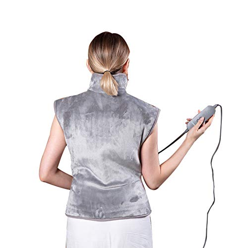 FLINCOUS Heating Pad for Back Pain Relief, 24x33 inch Large Heated Pad for Neck and Shoulders, Heating Wrap with Adjustable Temperature Settings Auto Shut Off