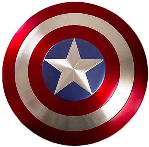 Bouclier Captain America Métal Marvel Legends The Avengers Marvel Captain America Costume Bouclier en Métal Adulte Taille Unique Accessoires De Film 1: 1