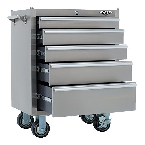 Big Sale Best Cheap Deals Viper Tool Storage V2605SSR 26-Inch 5-Drawer 304 Stainless Steel Rolling Cabinet