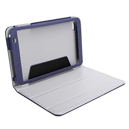 BOLORAMO Funda de Piel para Tableta, Antideslizante, Accesorios para Tableta agradables con la Piel(Blue)