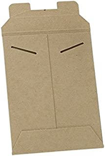 Stayflats Mailers | Reusable Rigid Shipping Envelopes | Repurpose Easy Packaging with Tab Lock Closure | Built-in Corner Protection | Stays Flat During Delivery | Kraft | 100 Per Case | 6