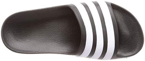 adidas Adilette Aqua, Unisex Kids Slide Slide Sandal, Core Black/Footwear White/Core Black, 1 UK (33 EU)