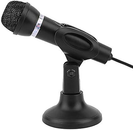 Silverkial Microfono da Tavolo per Notebook KTV-307 Microfono da Tavolo Karaoke con Microfono da 3,5 mm con Base per la Registrazione di Canto - Nero - Trova i prezzi più bassi