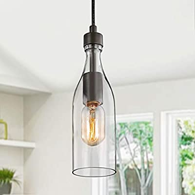 LNC 3-Height Adjustable Farmhouse Chandelier for Kitchen Island and Dining Room