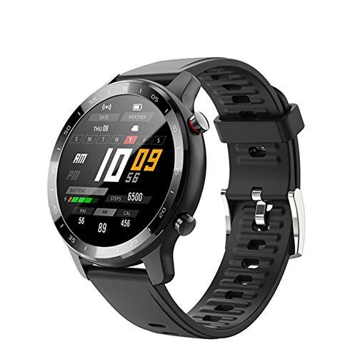 QLK S30 Smart Watch Hombres Y Mujeres IP67 Impermeable Fitness Bluetooth Smartwatch Frecuencia Cardíaca Monitor de Presión Arterial para Ios Android, C