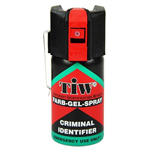 Spray de défense TIW Farb-Gel 40 ml (version clapet de sécurité)