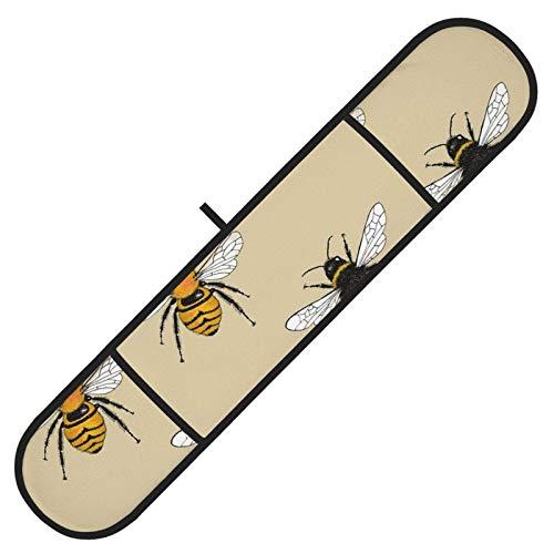 Guantes de Horno Doble Ilustraciones de abejorro Guante de Horno Doble Resistente al Calor para cocinar y Hornear