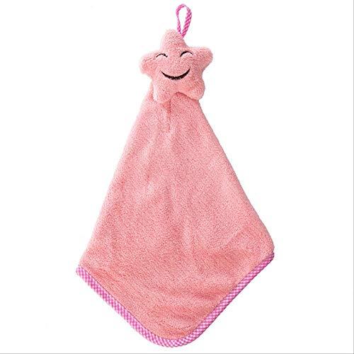 maoji Handtuch Cartoon Smiley Kind Mikrofaser Trockene Handtuch Plüsch Stoff Absorbierende Hängende Handtuch Küche Badezimmer Verwenden Rosa