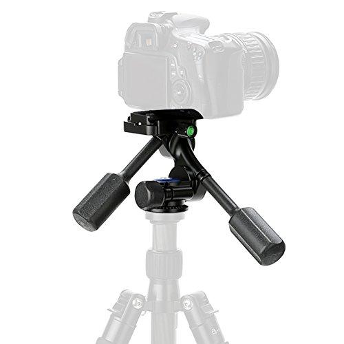 Koolertron Video Tripod Monopod Ball Head 3-Way Fluid Head Rocker Arm with Quick Release Plate for Canon Nikon Sony DSLR Camera