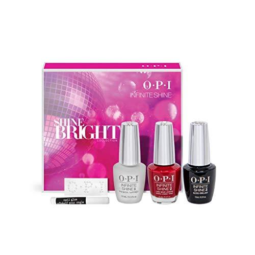OPI Nail Polish, Shine Bright Collection, Infinite Shine Gift Set with...
