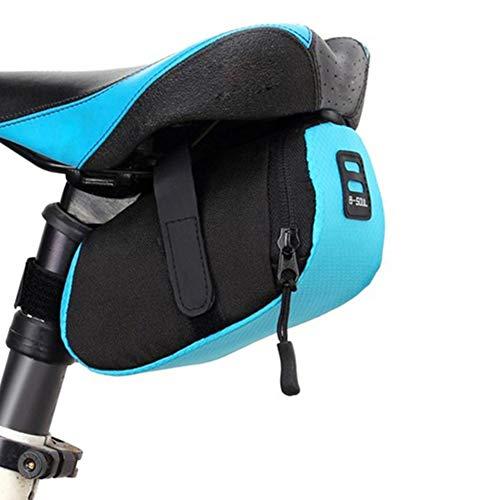 FGFGG - Bolsa para sillín de bicicleta con correa ajustable, resistente al agua, bolsa de asiento para bicicleta debajo del asiento, apto para BTT, bicicleta de carretera, bicicleta plegable, 7189FVH9J6A4837U3ZZSKC0, azul