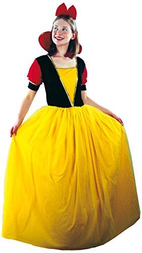 Fiori Paolo - Disfraz de Blancanieves para mujer adulto, amarillo, talla 40-42, 62039